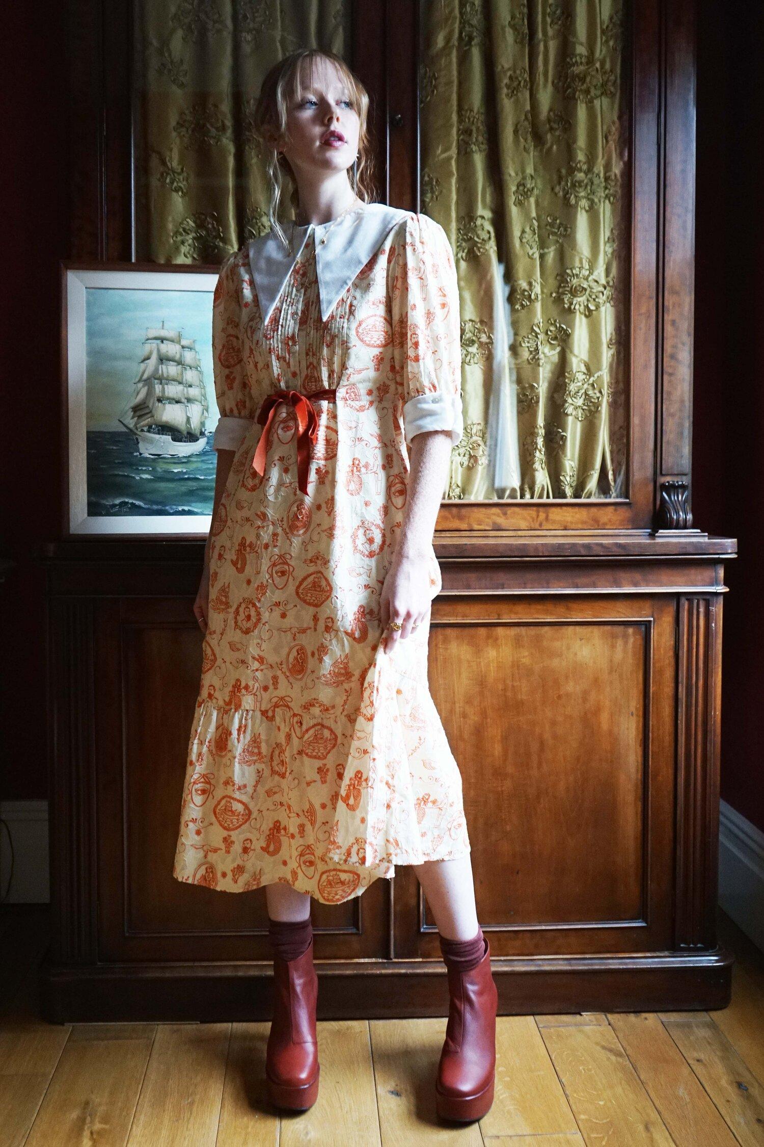 Seafaring Dress in Admiral Print