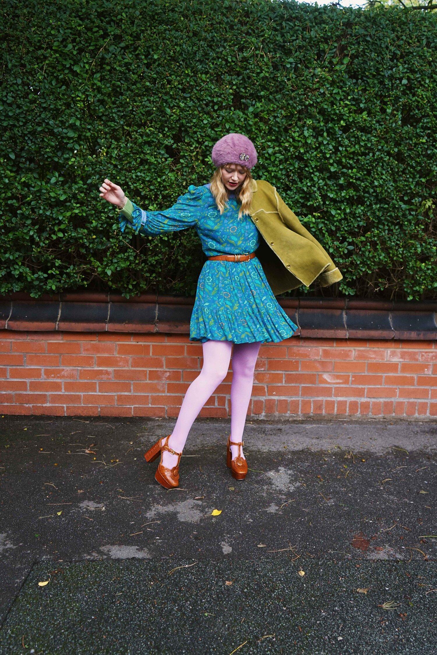 Autumn Virginia Cornflower Dress