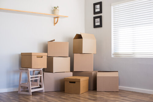Moving house and boxes