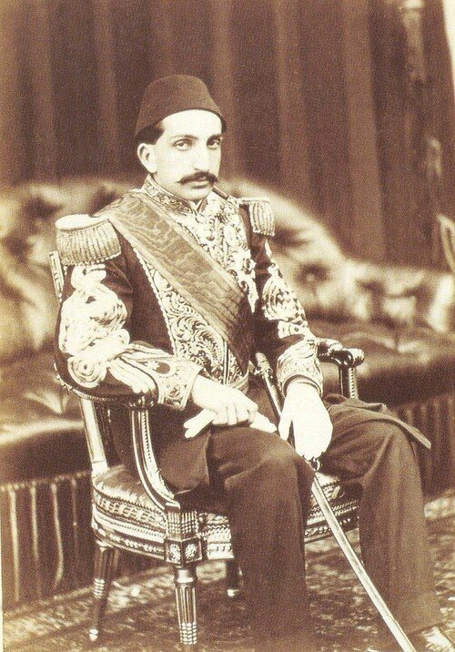 Abdülhamid II during his first years on the Ottoman throne.