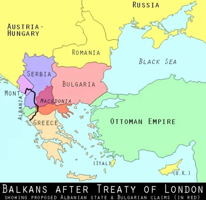 Map after First Balkan War