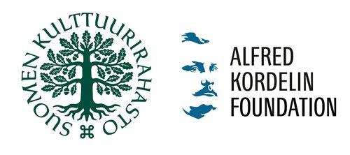 Suomen Kulttuurirahasto ja Alfred Kordelinin säätiö -logot