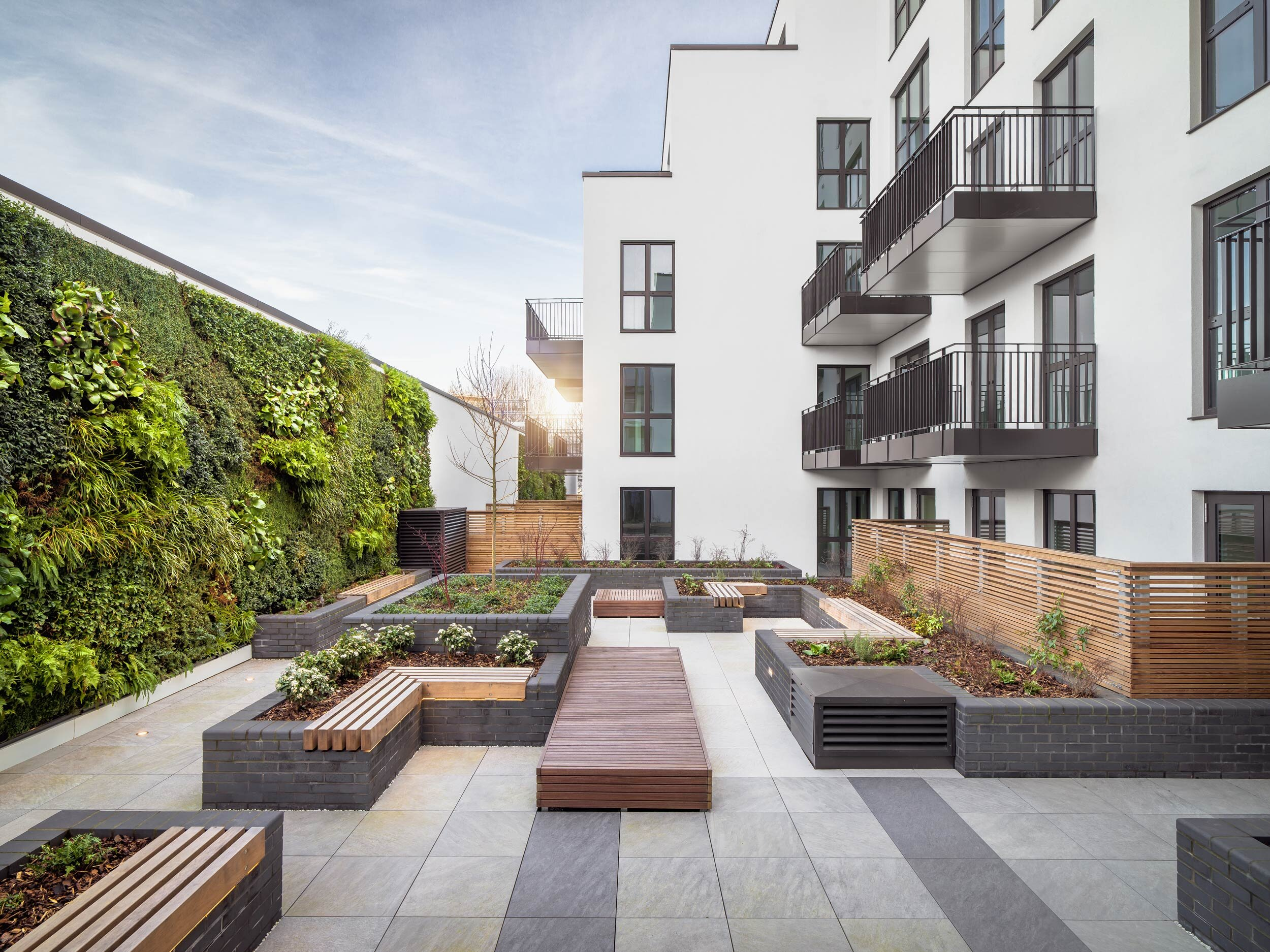 Lyons Place Outdoor Spaces — Exterior Architecture
