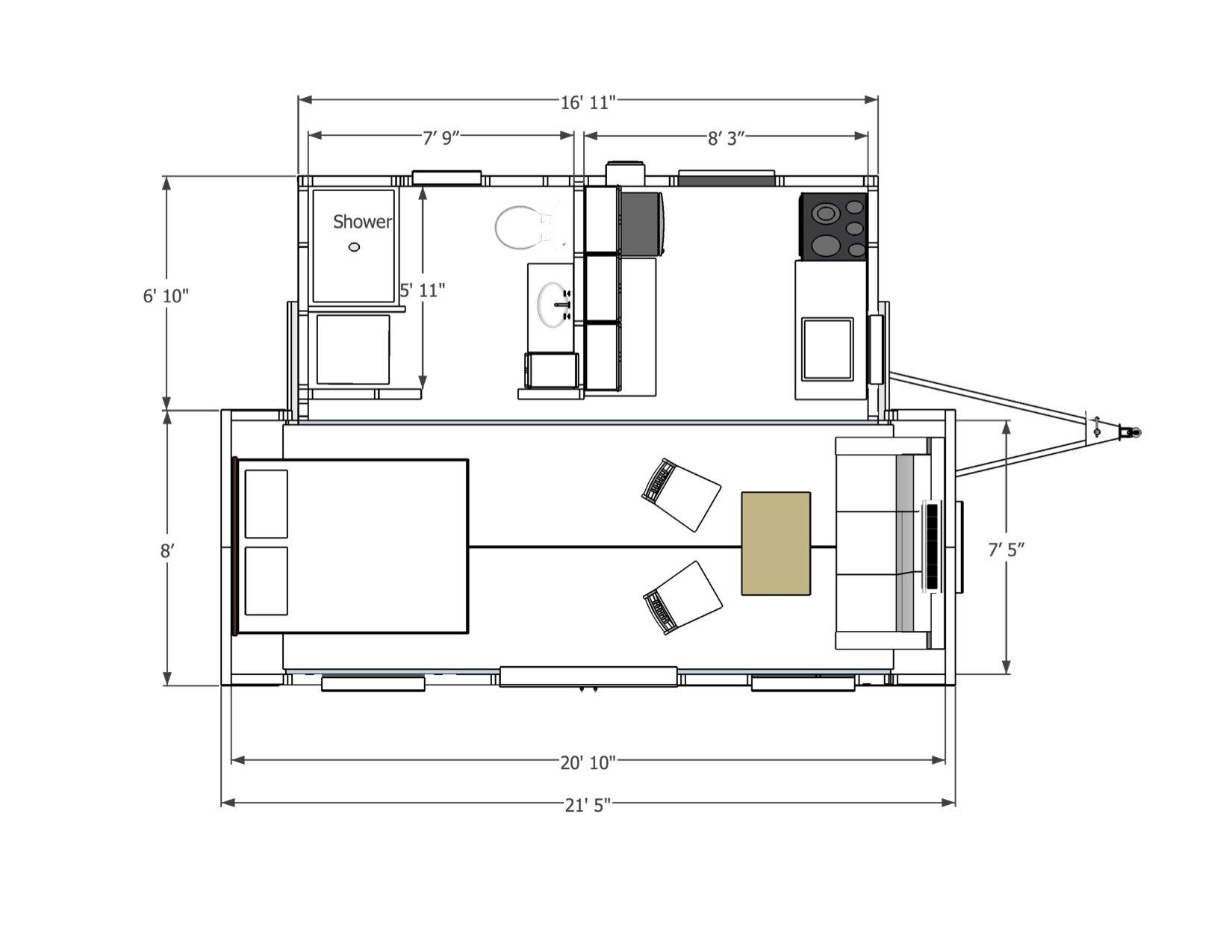 Floor Plan Central Coast Tiny Homes