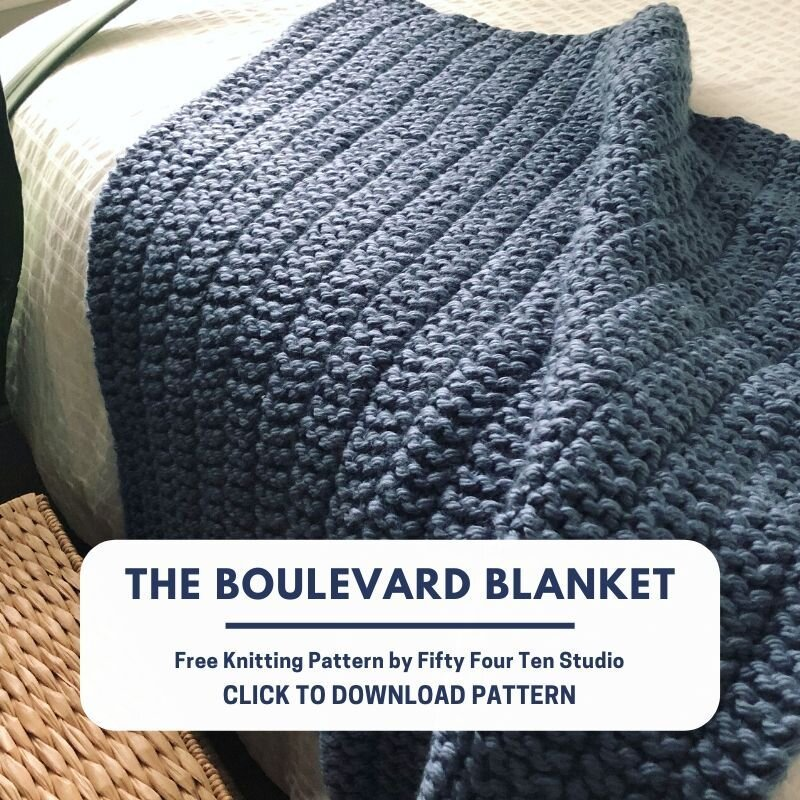 Free Blanket Knitting Pattern For Super Bulky Yarn The Boulevard Blanket Fifty Four Ten Studio