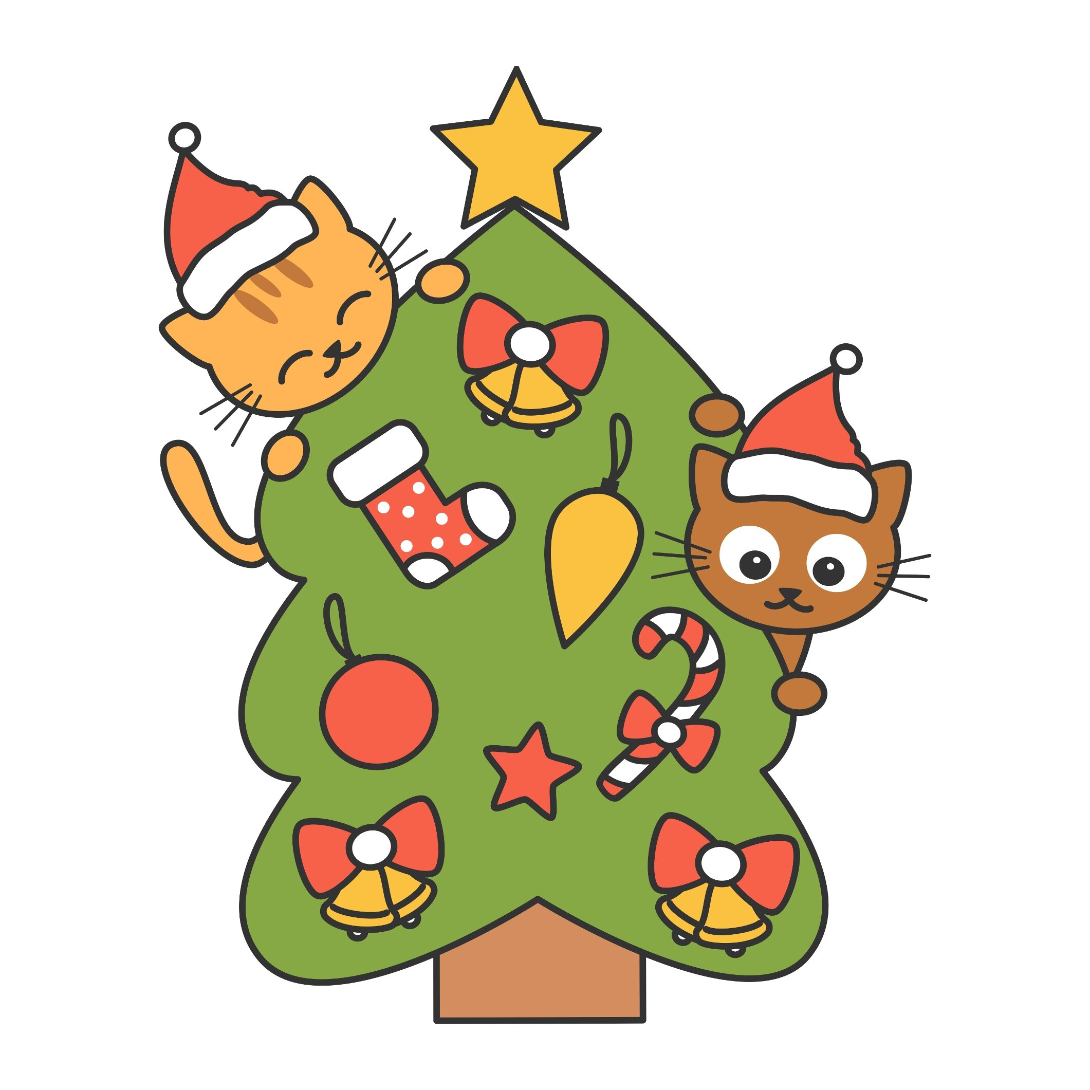 Christmas Cartoon Vector Illustrations Alice Vacca Are you looking for christmas cartoon images? christmas cartoon vector illustrations