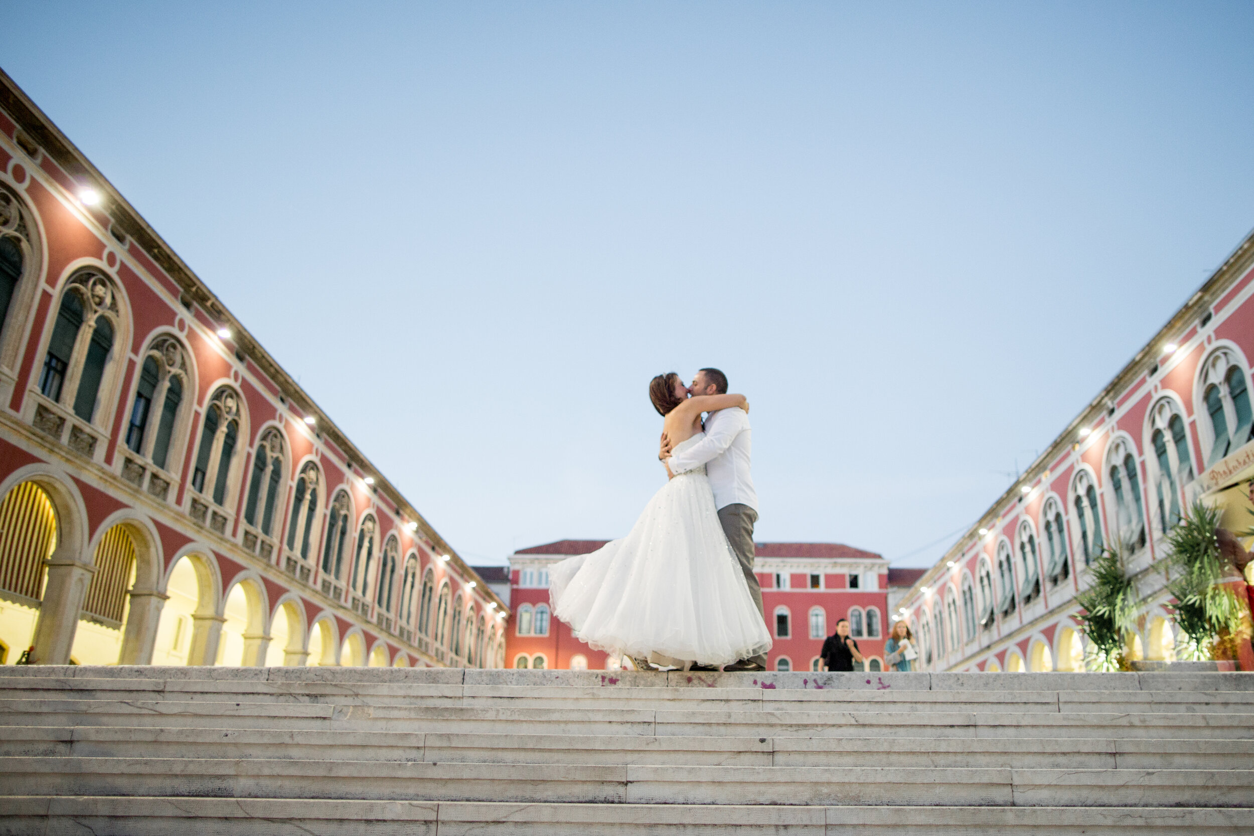 split croatia destination wedding in diocletians palace