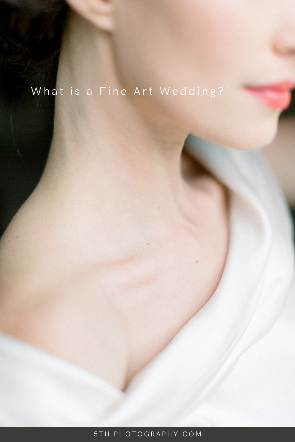bridal portrait of neck and jaw