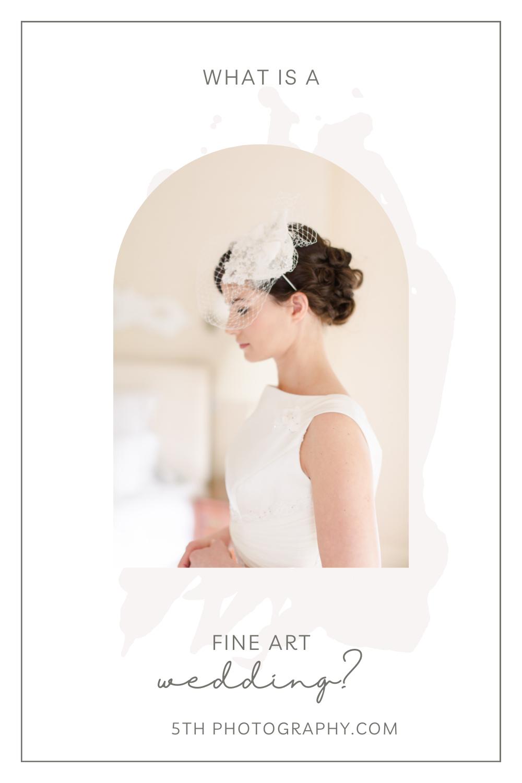 bridal portrait with white floral head piece