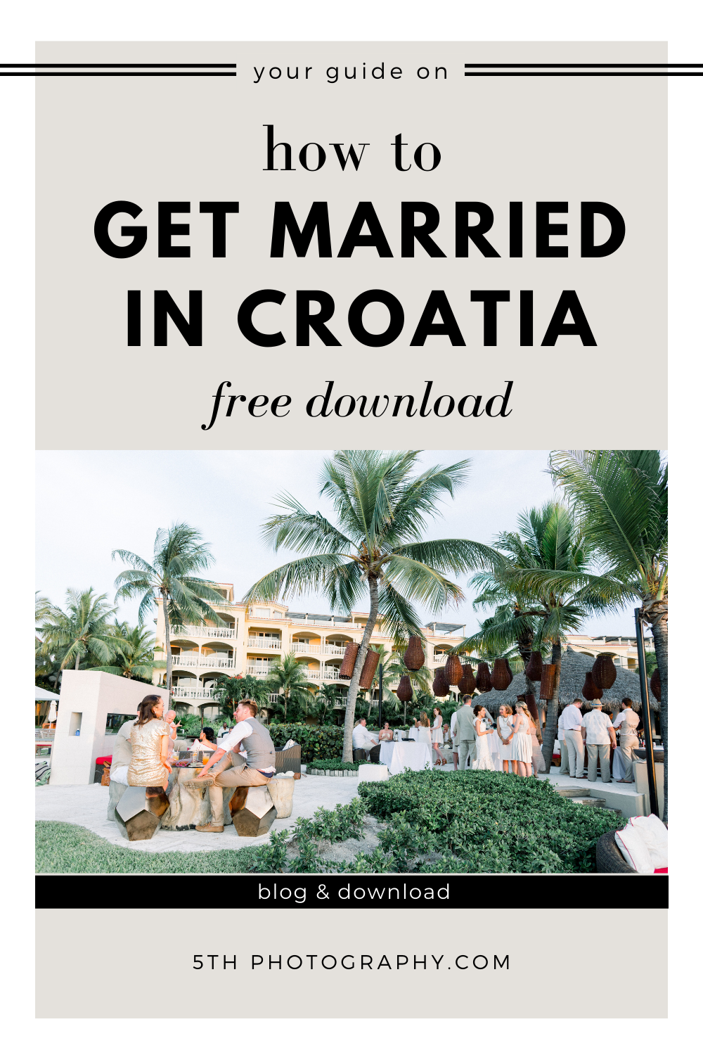outdoor wedding reception in croatian resort