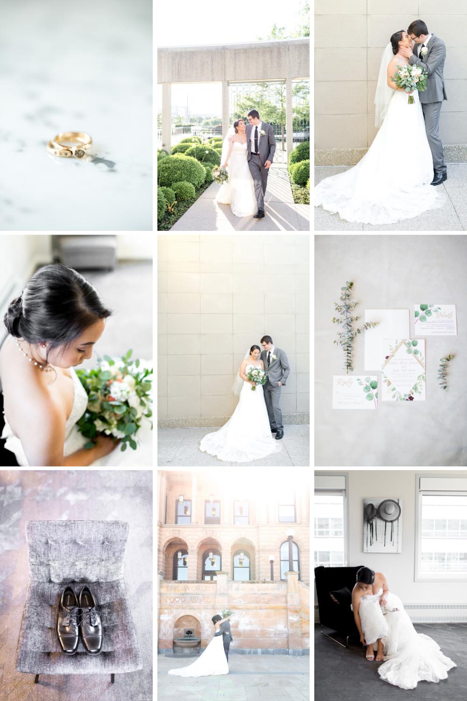 fine art wedding collage of details