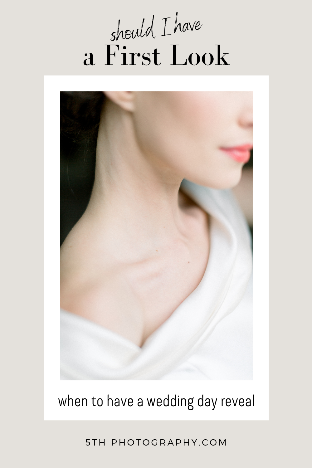 bride portrait of jaw and collarbone
