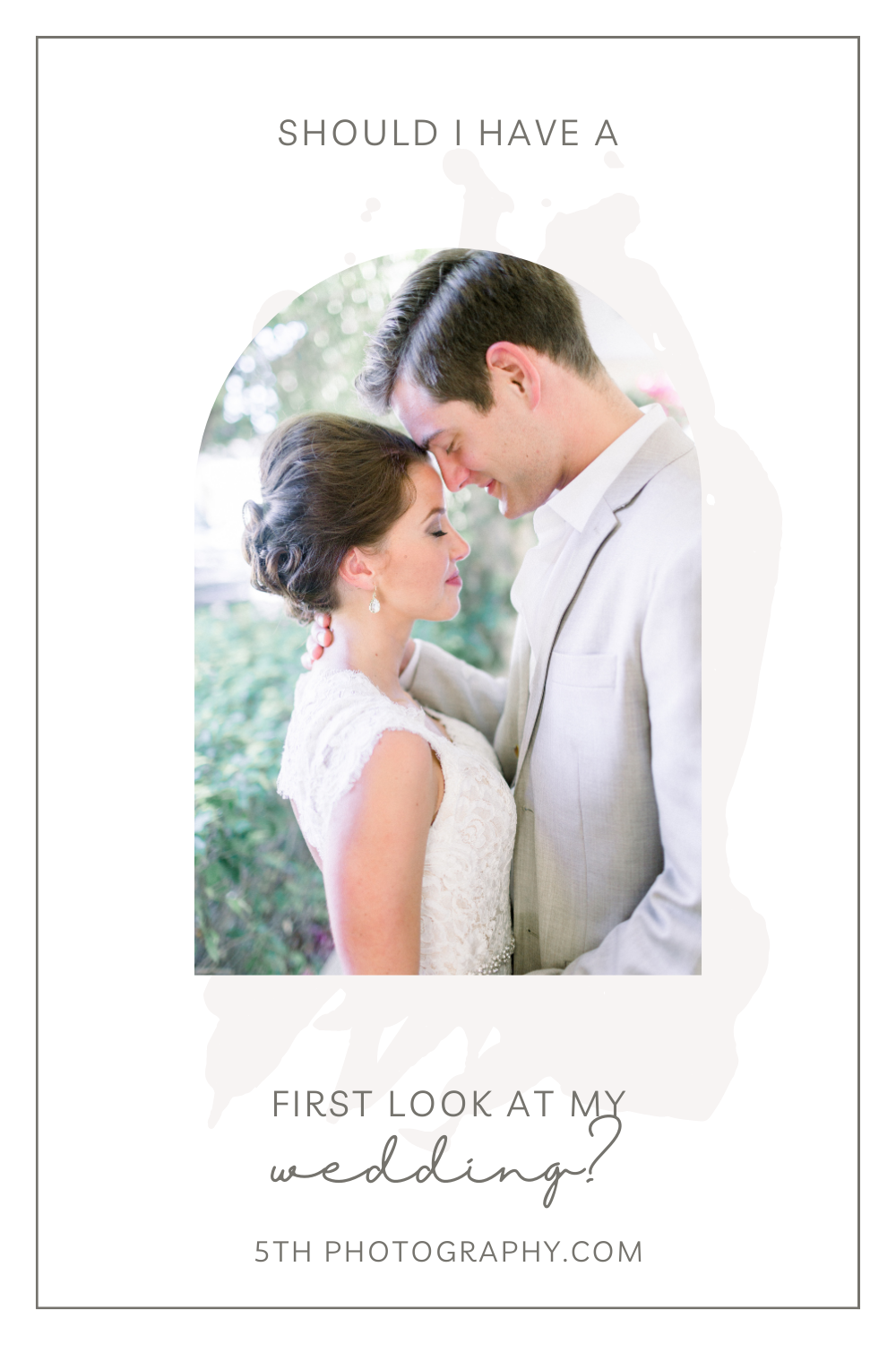 bride and groom at first look