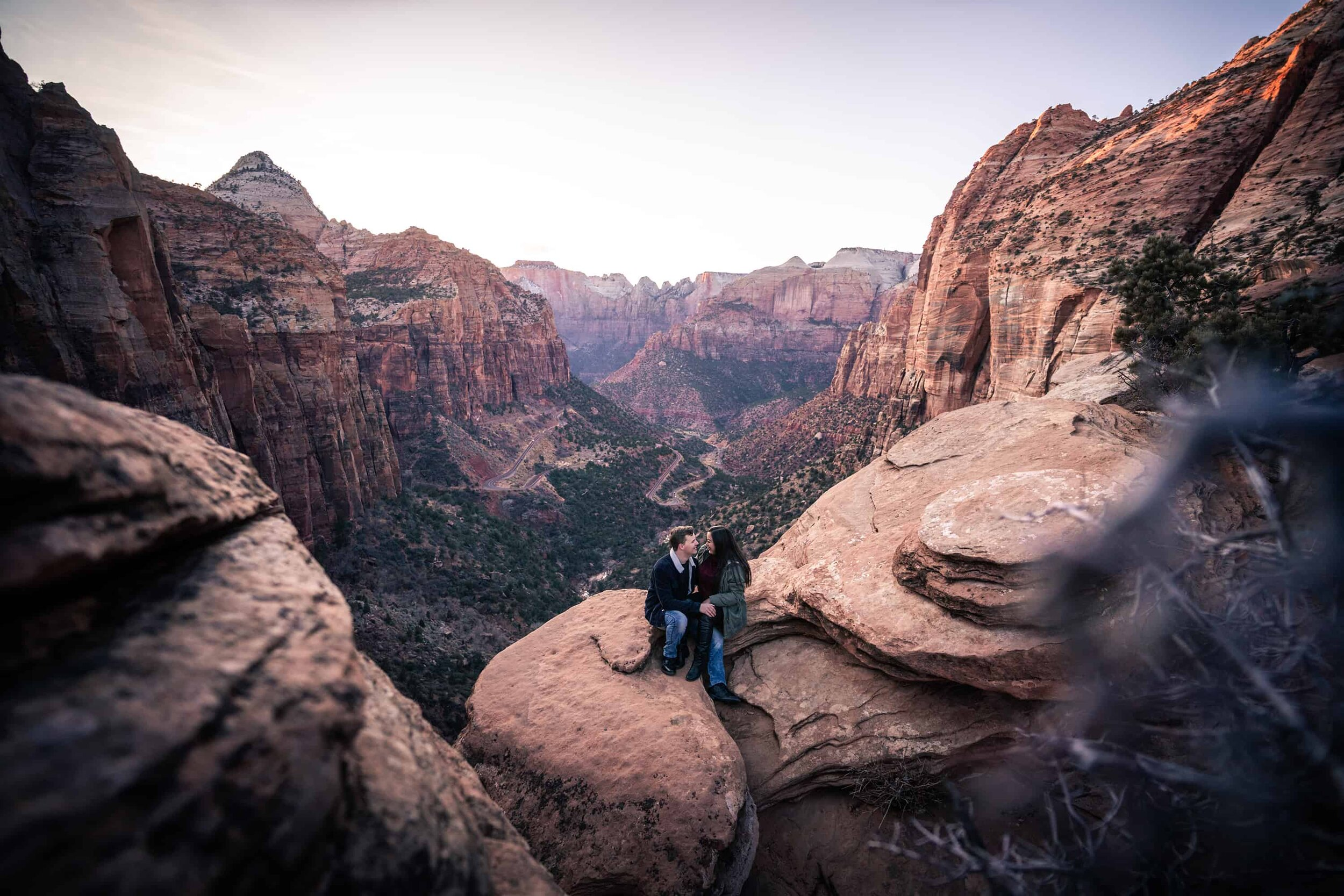 zion canyon overlook trail photographer