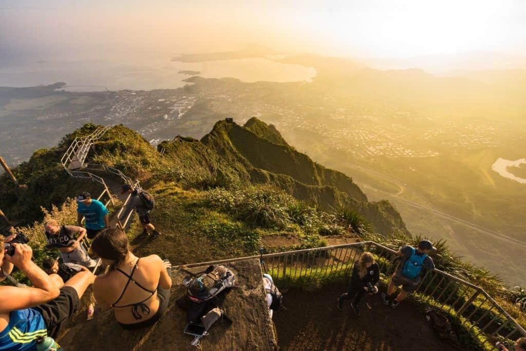 Oahu Hawaii Elopement Hike Stairway to Heaven