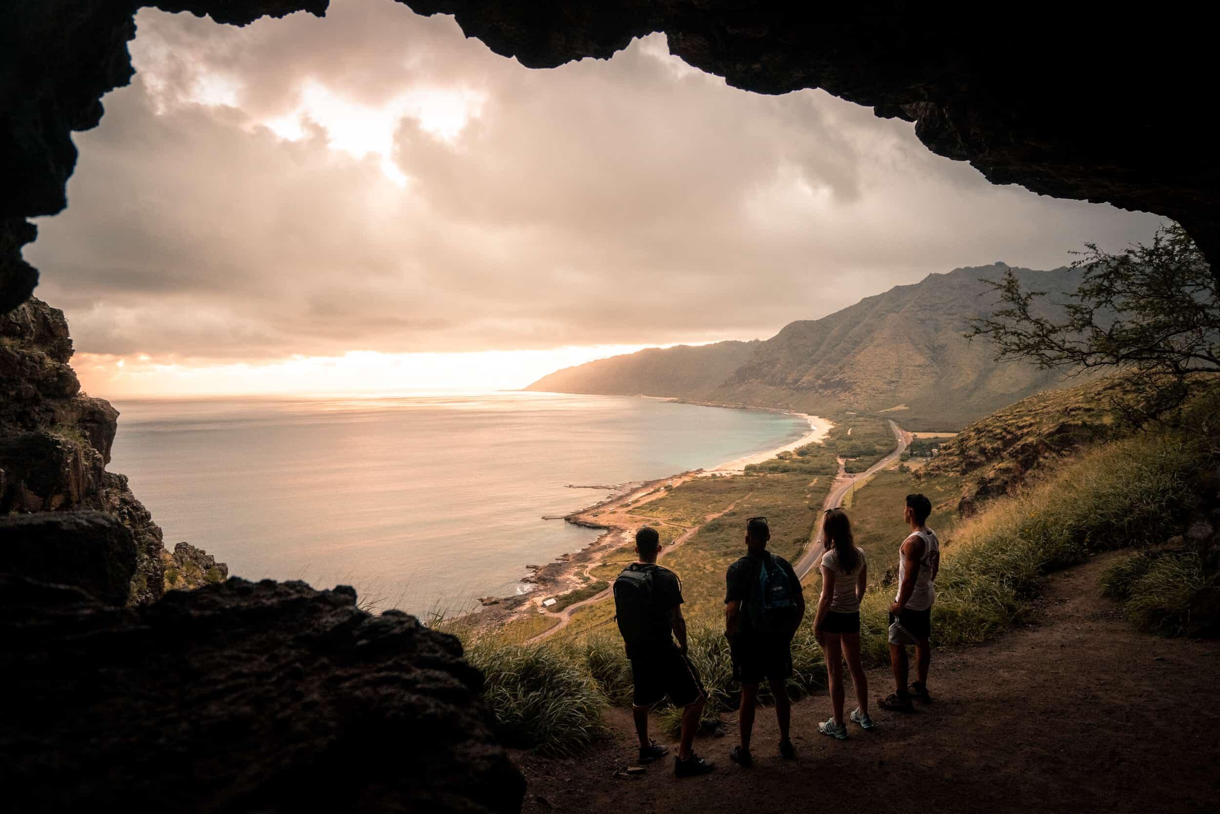 Oahu Hawaii Elopement Hike Makua Cave