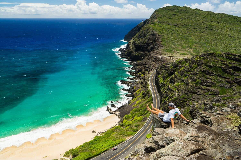 Oahu Hawaii Elopement Hike tom tom trail