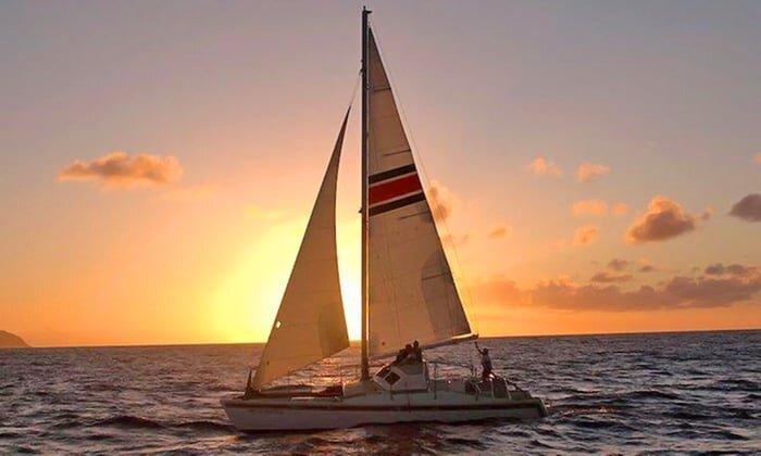 Oahu Hawaii Elopement-sailing