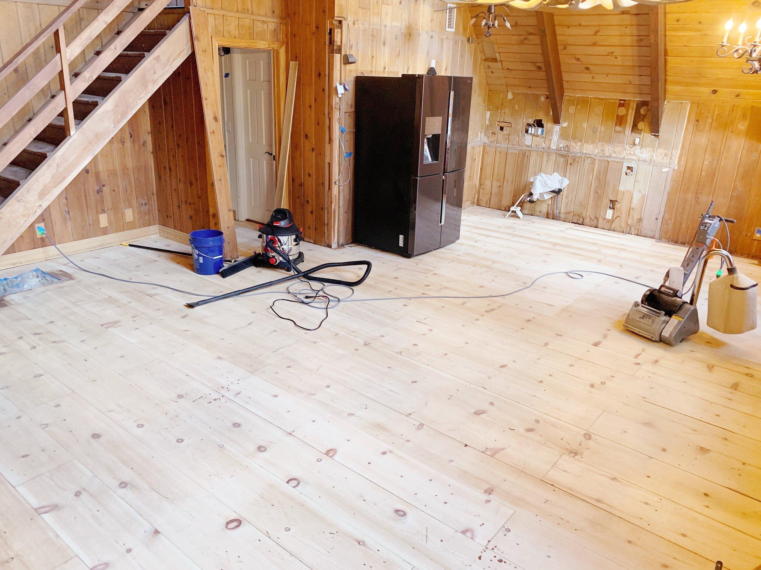 Refinishing The Cabin Wood Floors Wilson Haus