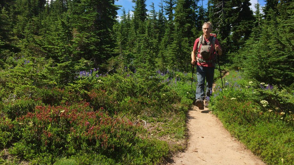 Photographer Peter Marbach finds great solace hiking into wilderness. Image courtesy of Vince Patton/OPB