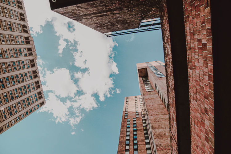 NYC sky with buildings