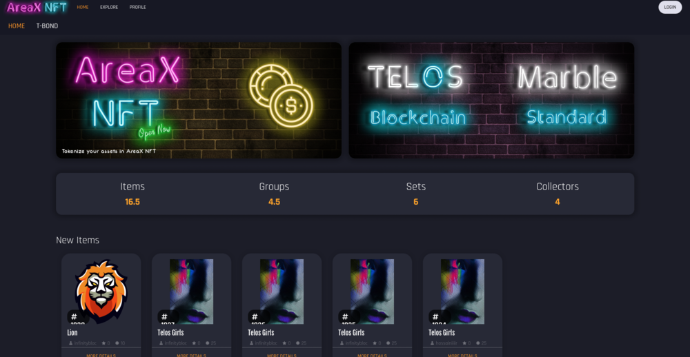 AreaX NFT will be the first sale platform for T-Bonds.
