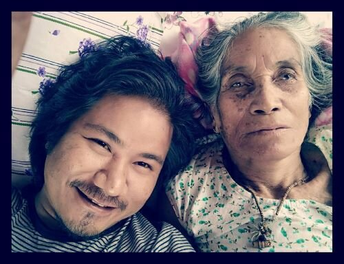 Pavel with his beloved grandmother