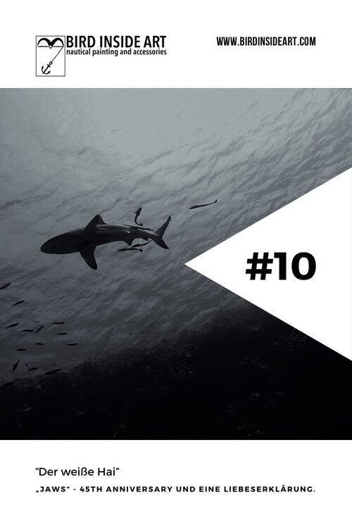 Eintrag 10 Der Weisse Hai B Logbuch Bird Inside Art Abstrakte Und Maritime Kunst