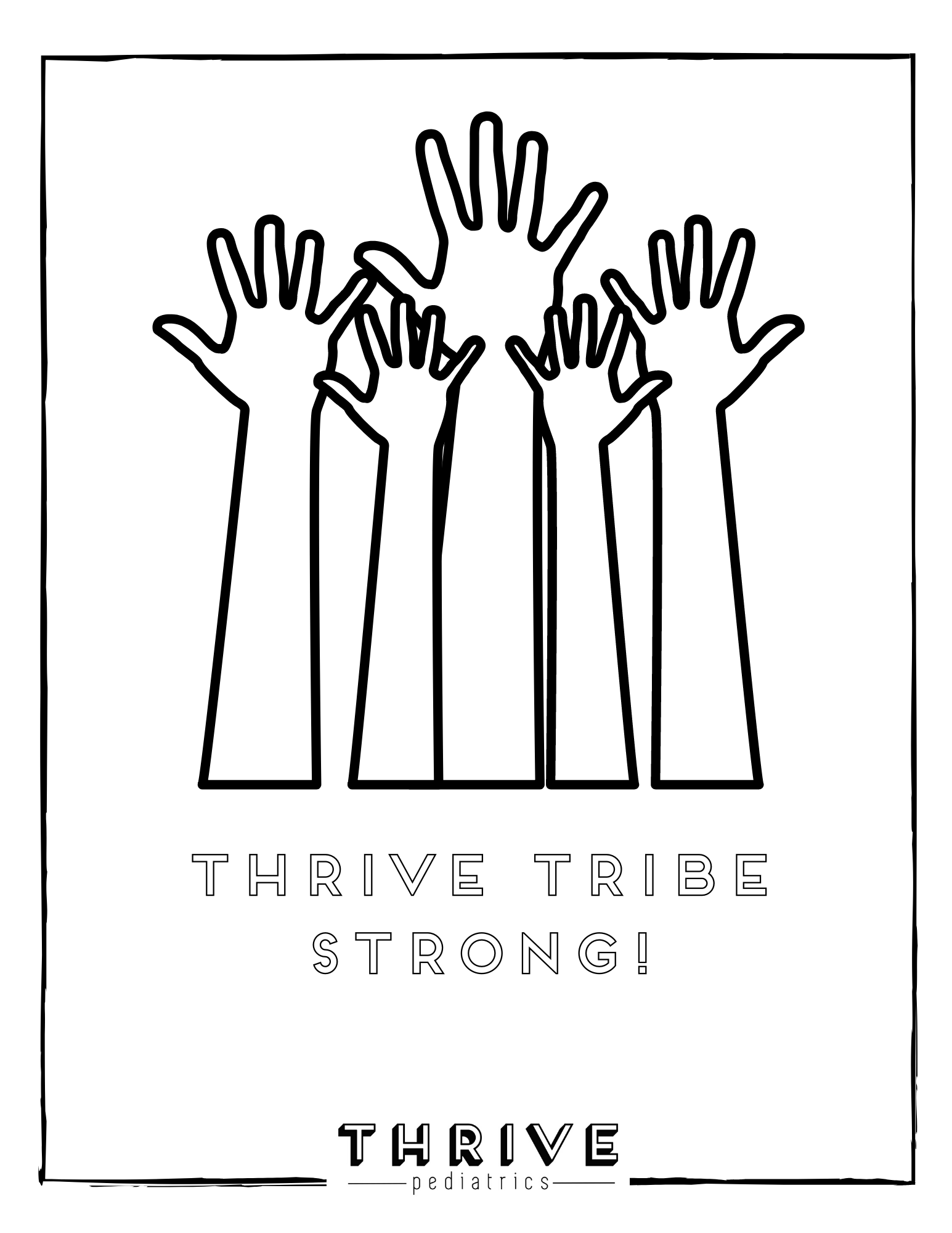 Thrive Coloring Pages Thrive Pediatrics