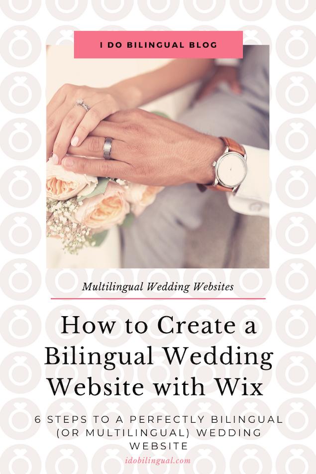 How To Create A Bilingual Wedding Website With Wix I Do Bilingual