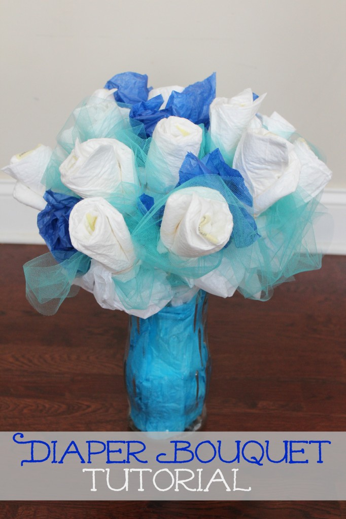 How To Make A Diaper Bouquet Picture Tutorial