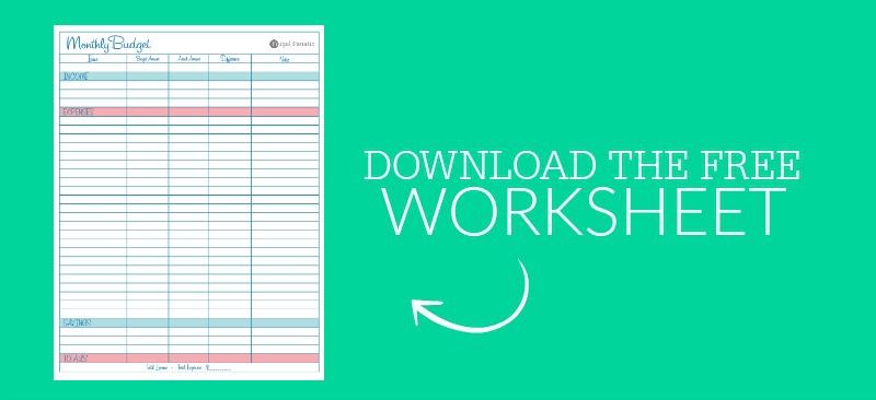 Blank Monthly Budget Worksheet