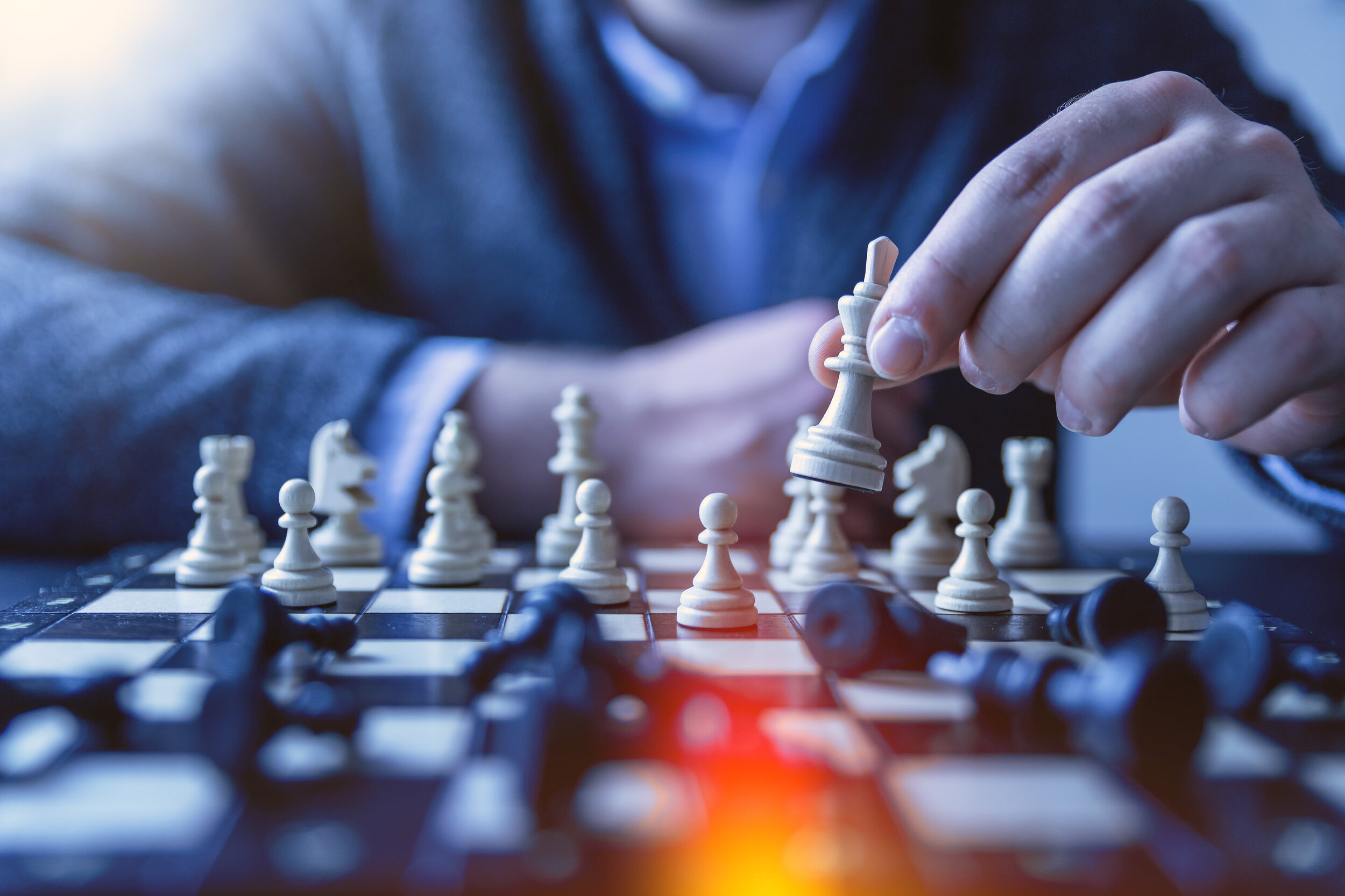 Take an end-game first approach: envision the pieces of a winning game and work backwards from there.