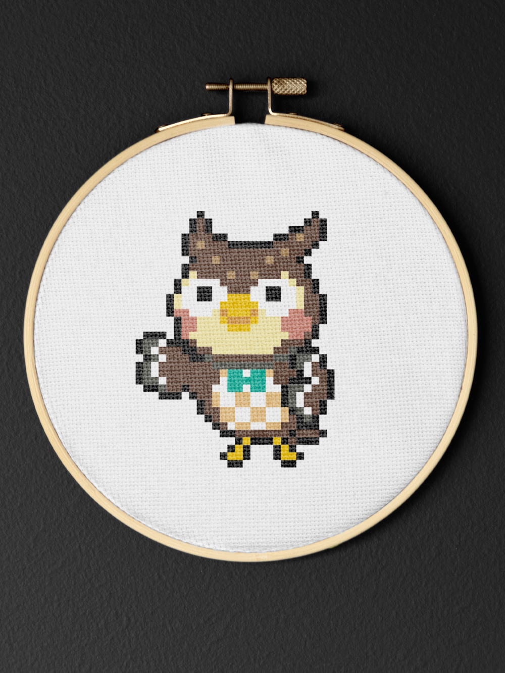 2 of 6 inch hoop included Animal Crossing Celeste and Blather Cross Stitch Kits Bundle
