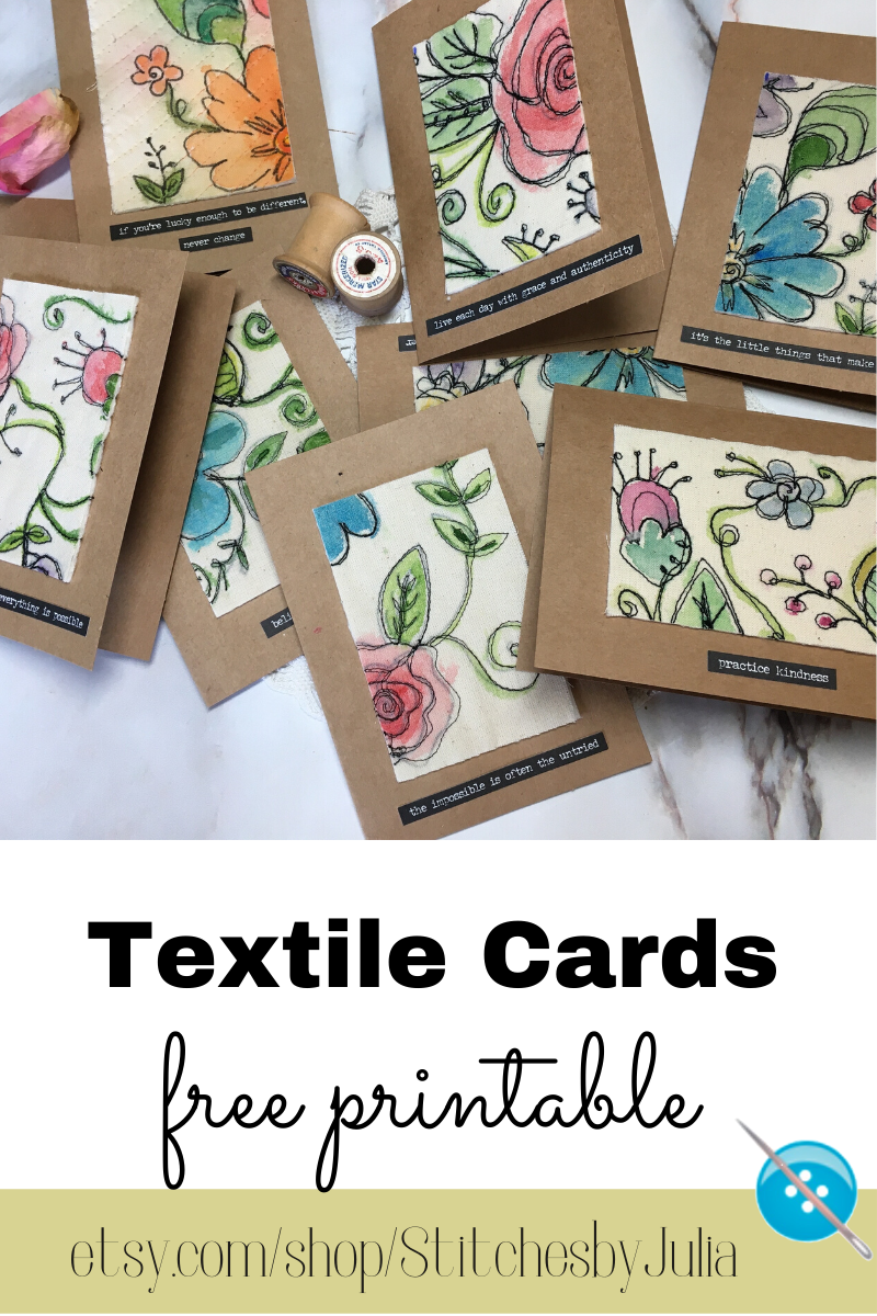 Fabric Cards Free Printable Stitches By Julia
