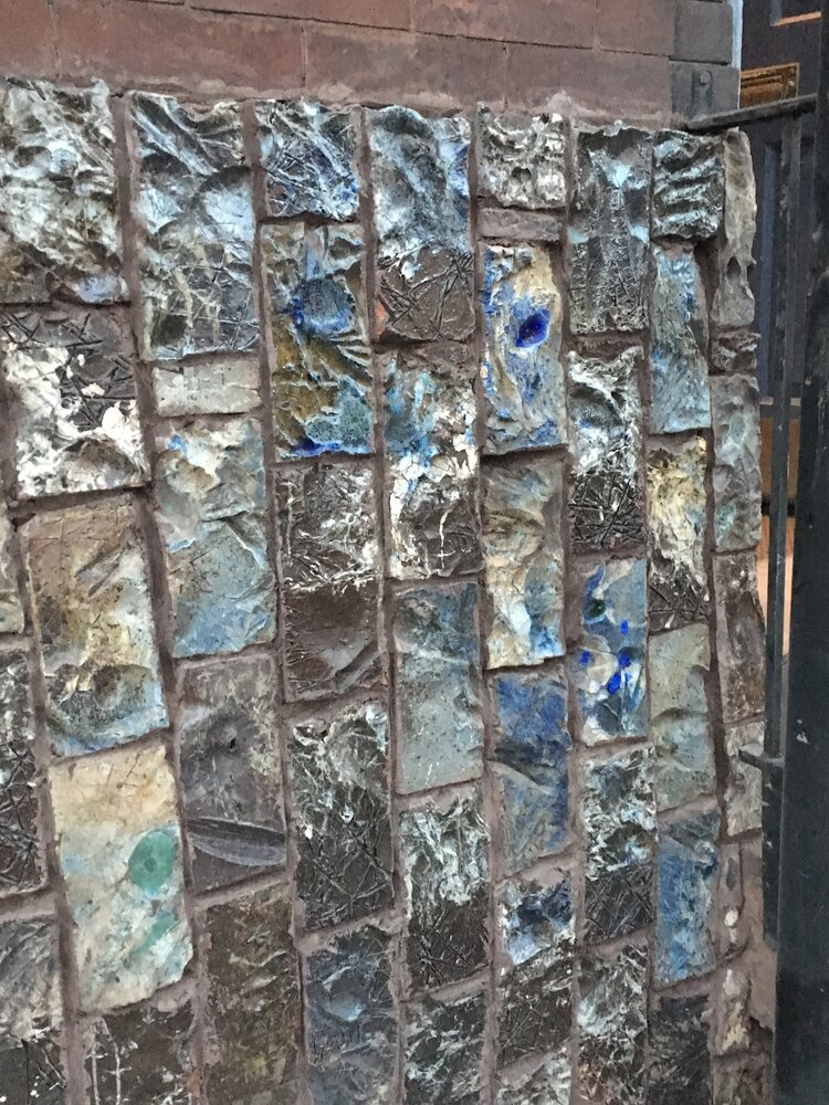 Outdoor Walls Sculpted Of Carved And