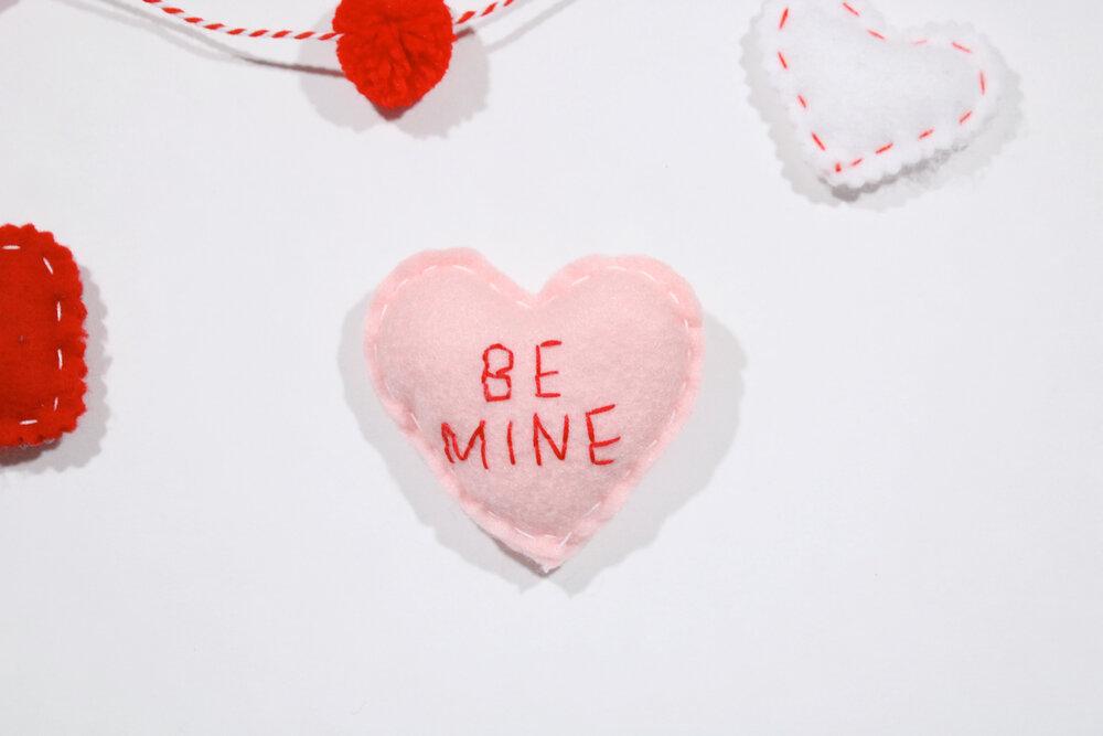 Heart Felties Cute Felties Valentine/'s Feltie Valentine Felties Funny Felties Embroidered Feltie Valentines Day Felties Word Felties