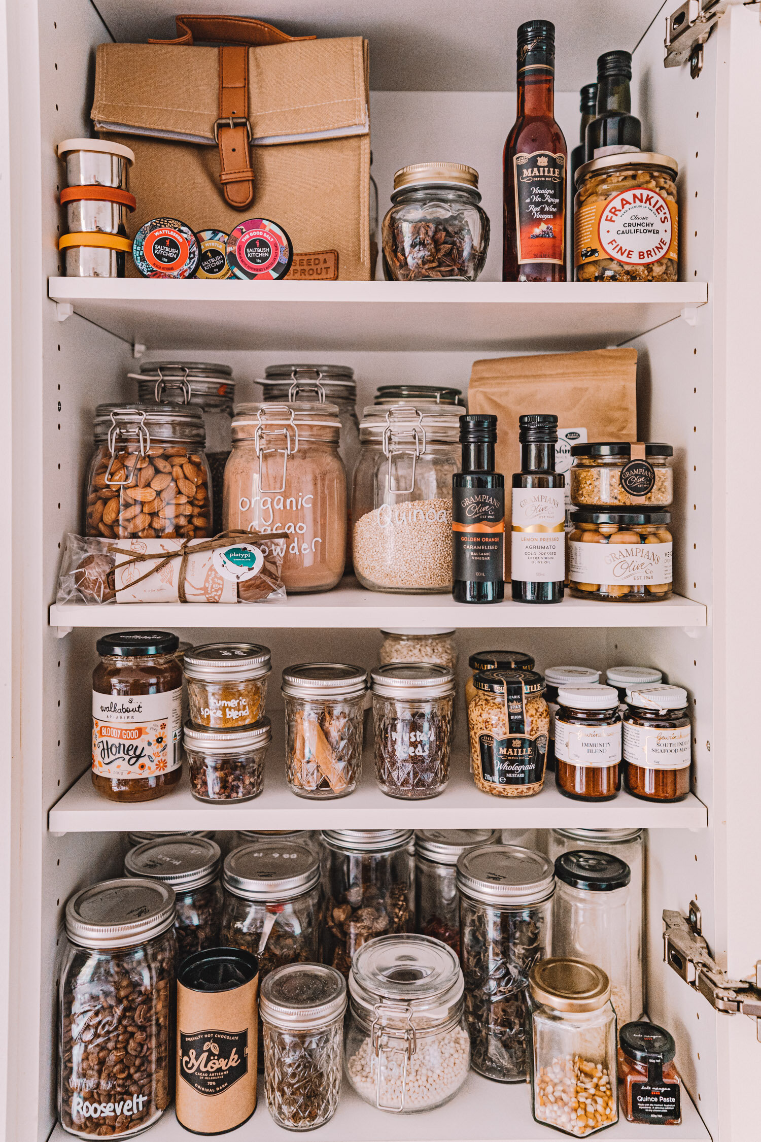 Pantry Organisation Ideas Tips Plastic Free Glass Jars Connie And Luna