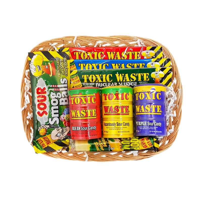 Toxic Waste Sour Power Hamper Small Olde Sweet Shop