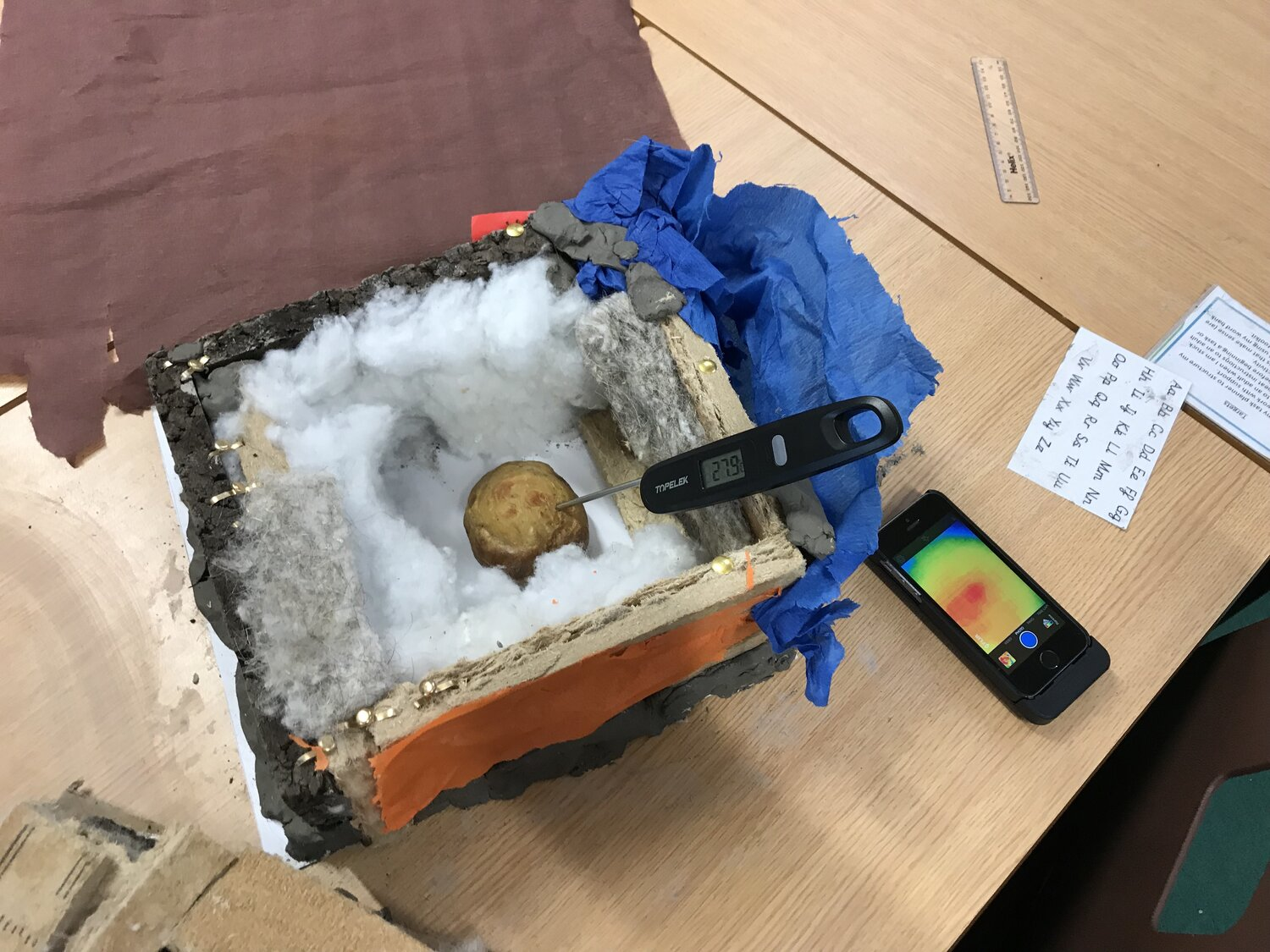 "Use of a thermographic camera and digital thermometer to judge the ""Baked Potato Challenge"""
