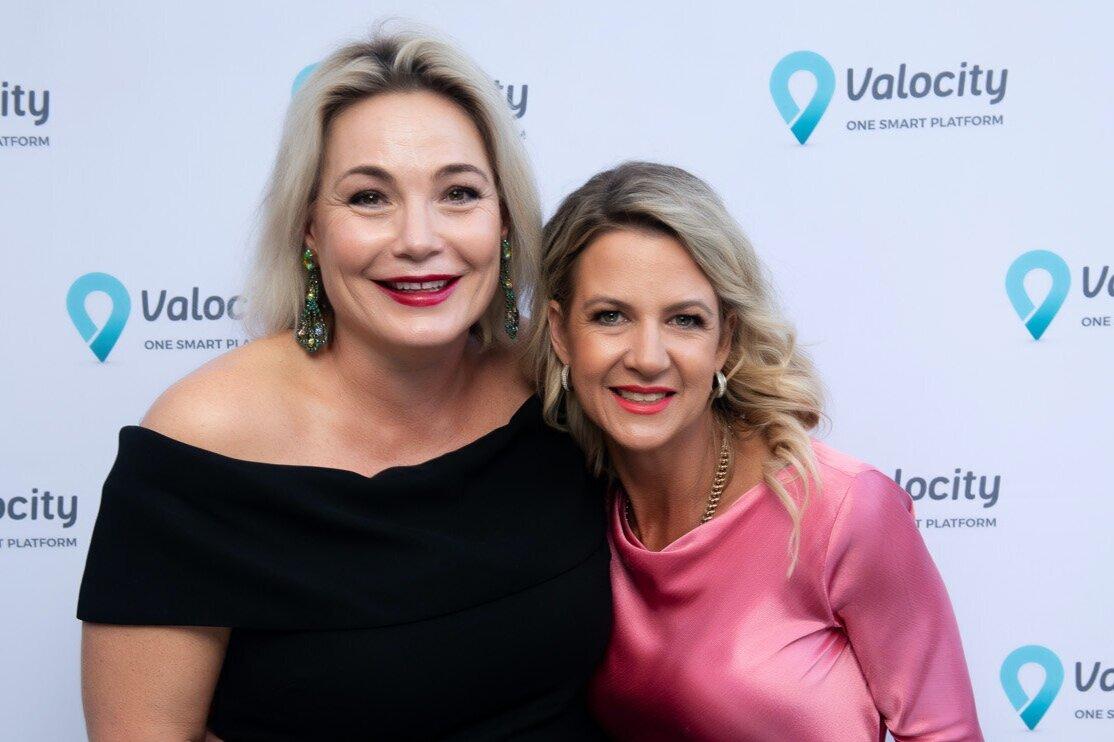 Amelia Hodge and Carmen Vicelich at Valocity's 5th Birthday Celebration. November 2019.