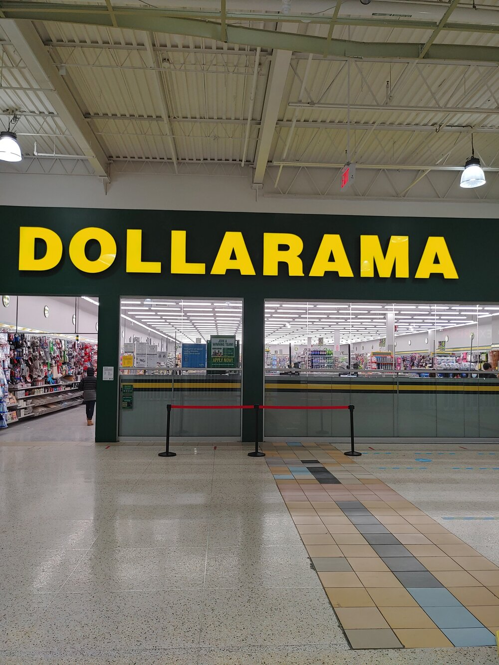 Dollarama in the Jane Finch mall, where many local families get their school supplies. (Photo credit: Janelle Brady)
