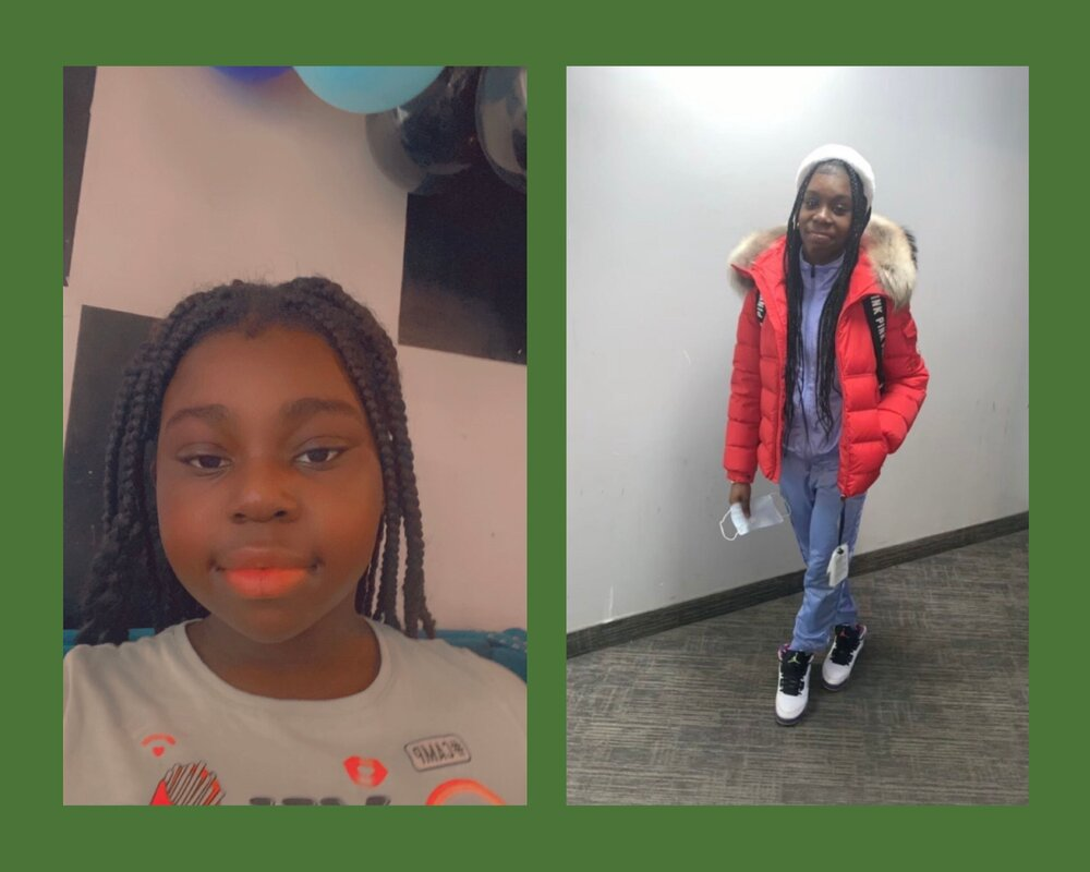 Two of Alieka's daughters, who are returning to virtual learning on April 19th. (Photo credit: Alieka Charley)