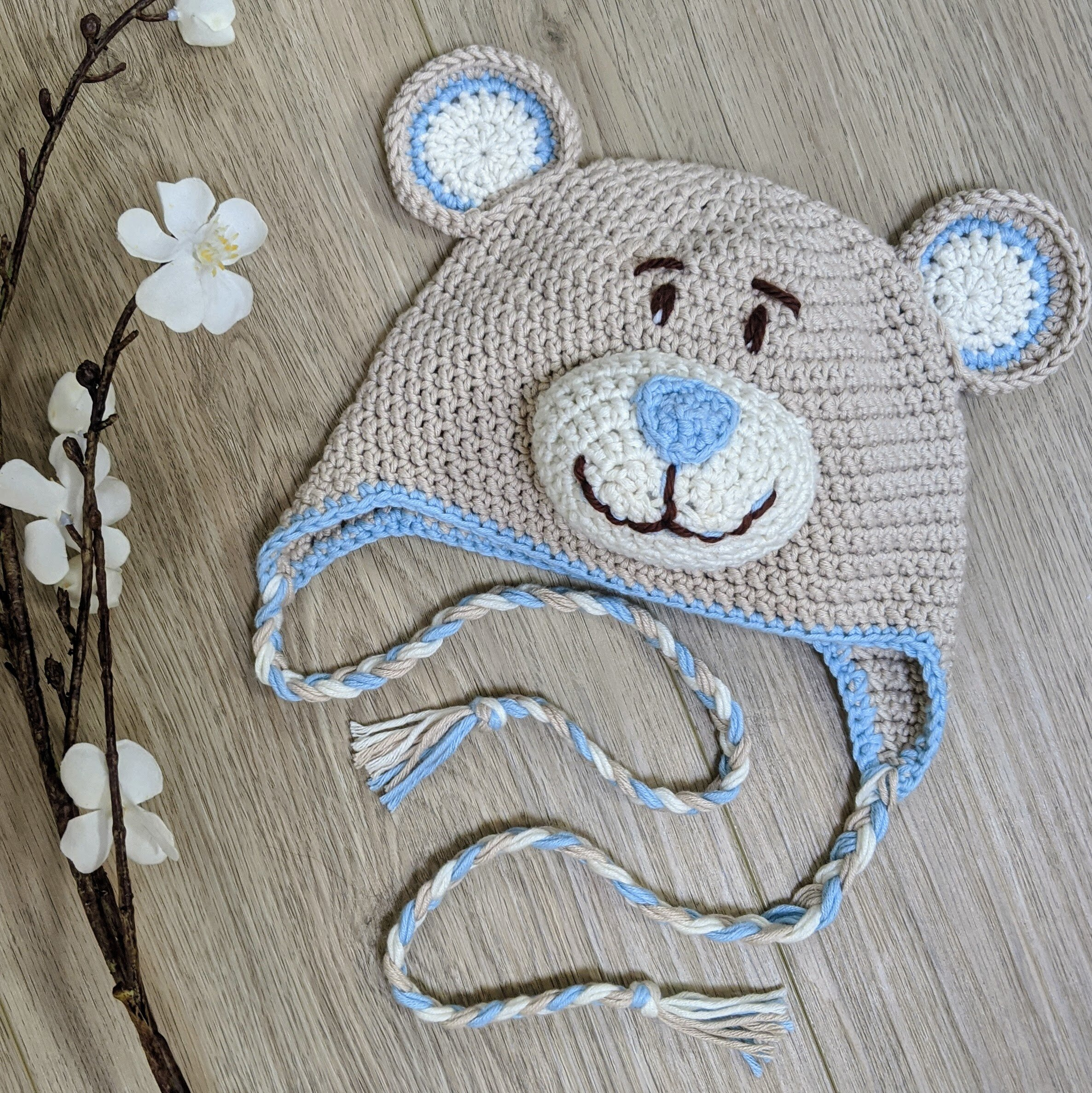 Crochet teddy bear hat | Crochet bear hat, Crochet teddy, Crochet ... | 1001x1000