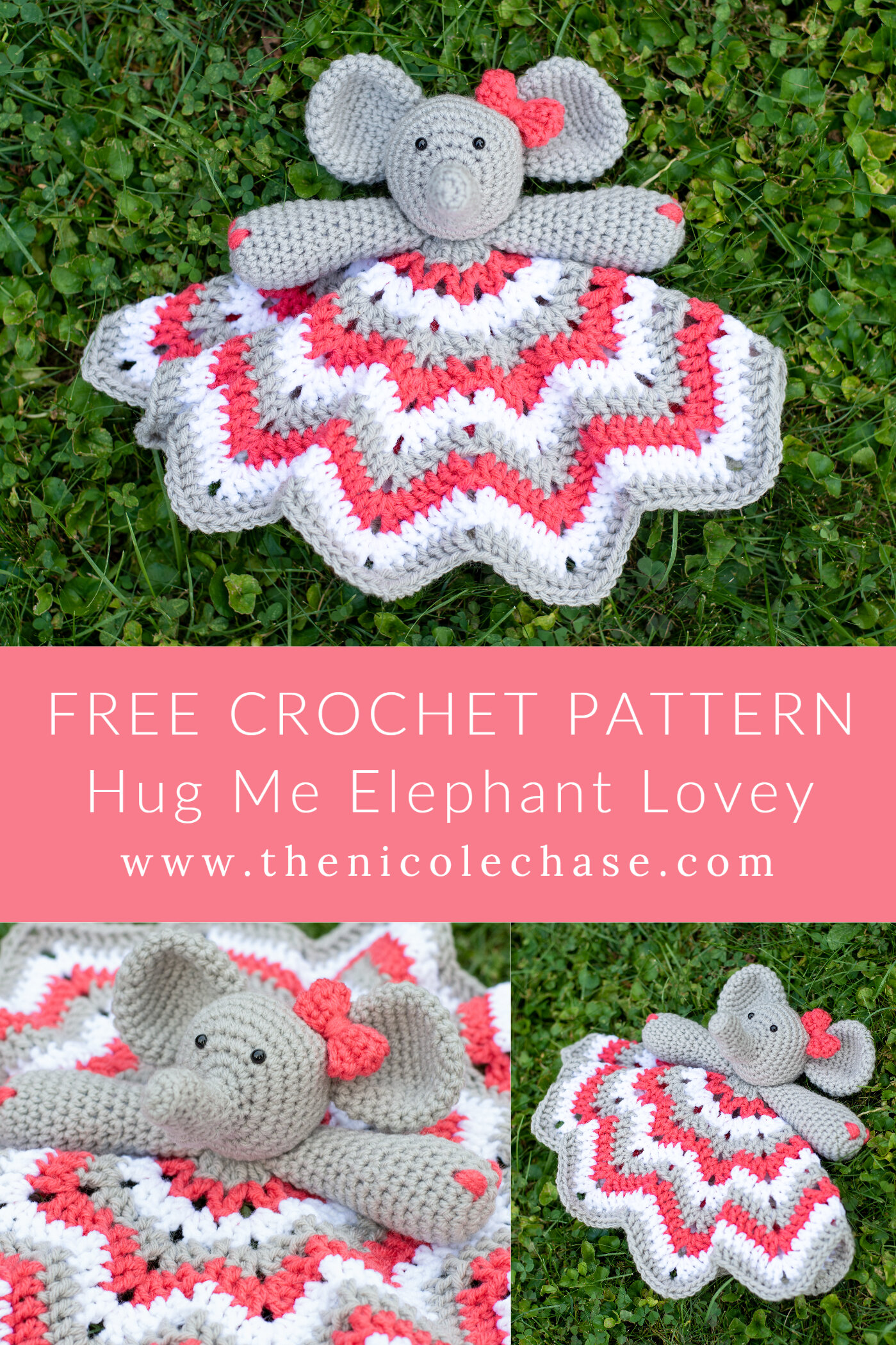 Hug Me Elephant Lovey Free Crochet Pattern Nicole Chase