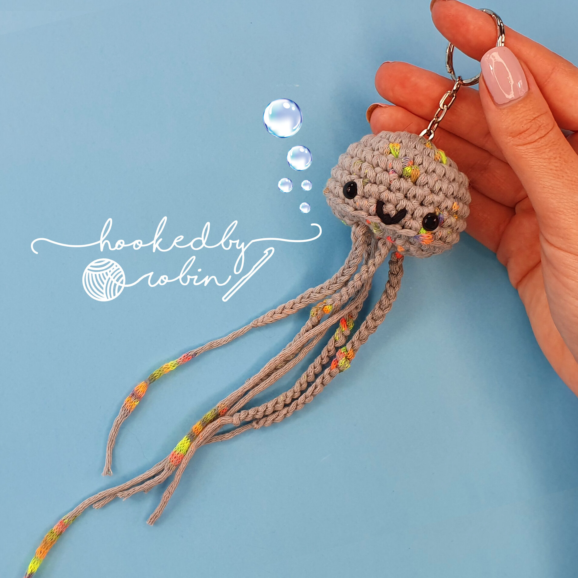 Happy jellyfish amigurumi pattern - Amigurumi Today | 1000x1000