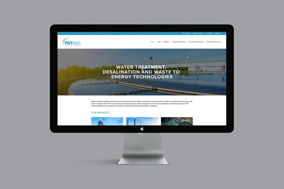 Corporate Identity, Branding and Website Redesign Refresh Pacific Aqua Technologies