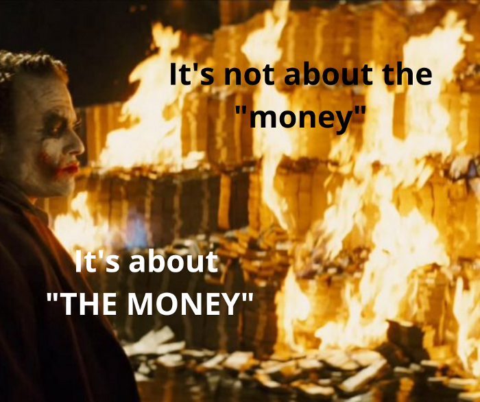 It was always about fixing THE MONEY.