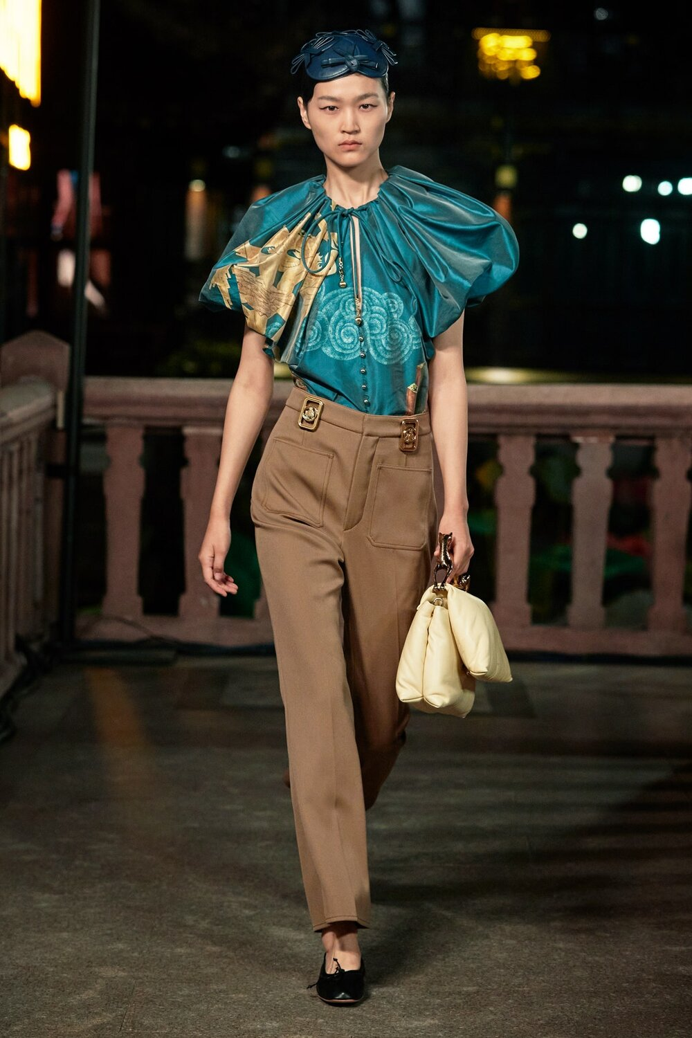 A look from Lanvin's S/S 2021 show in Shanghai
