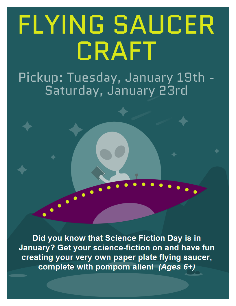 Flying Saucer Craft Take And Make Shelter Island Public Library